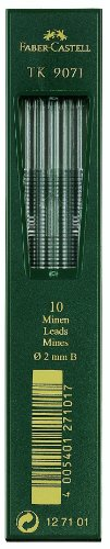 Faber-Castell 127100 - 10 Fallminen TK 9071, Minenstärke 2 mm, Härtegrad HB