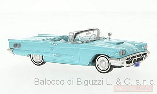 Neo Scale Models NEO46057 Ford Thunderbird Convertible 1960 Light Blue 1:43 kompatibel mit