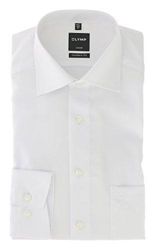 Olymp Herren Hemd Luxor Modern Fit Langarm Weiß