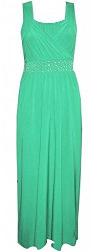 Generic - Robe - Portefeuille - Sans Manche - Femme Multicolore Bigarré Taille Unique Vert