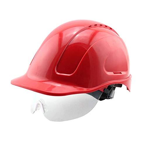 GBY Schutzhelm Elektrikerschutzhelm, Bauarbeitersturzhelm, industrieller Schutzhelm, Arbeitssturzhelm, Schutzhelm Bauarbeiterhelm mit Belüftung (Farbe : Rot)