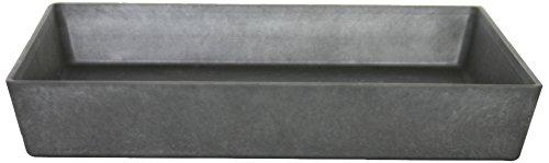 Artstone Untersetzer Ella, frostbeständig und leichtgewichtig, 34 x 5 cm, schwarz