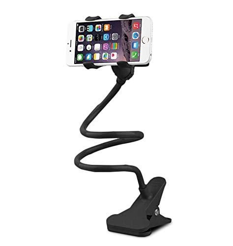 Dosige Soporte Móvil teléfono,Rotación de 360 °Cuello de Cisne Soporte,Soporte Multiángulo para 4 a 9 Pulgadas teléfono iPhone Samsung y Android Smartphone(Negro)