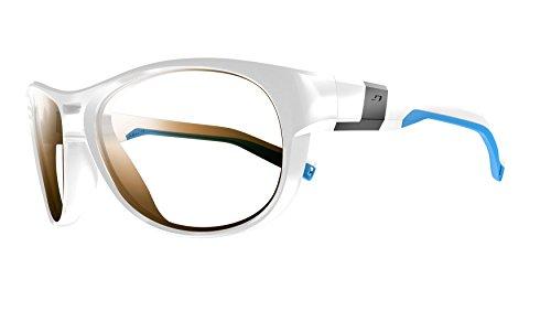 Julbo J4879011 Lunettes de Soleil Homme, Blanc Brillant Bleu f8ca7718428e