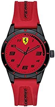 Scuderia Ferrari Unisex-Child Red Dial Red Silicone Watch - 860008