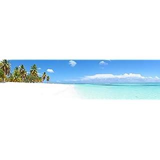 adrium Poster-Bild 80 x 20 cm: Panoramique - ILE de Saona (RP), Bild auf Poster