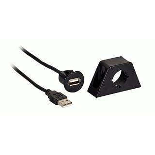 Axxess AX-FMUSBEXTCB Line-Level-Kontrolle, Stecker USB auf USB-Buchse mit Halterung