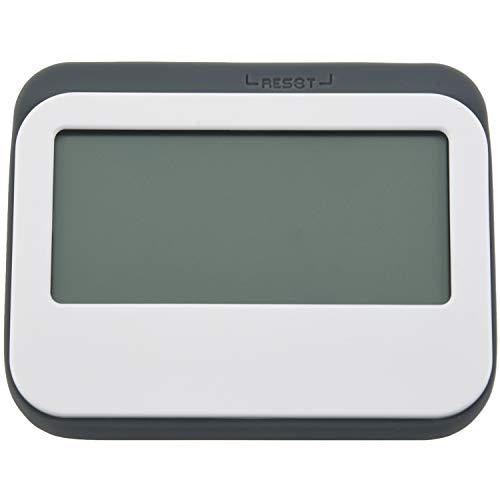 SODIAL Magnetic Digitaler 24-Stunden-Küchentimer/Uhr Mit Gro?em Bildschirm (Grau)