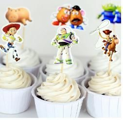 Toy Story Cupcake Picks Set of 12 by All Cake Decor