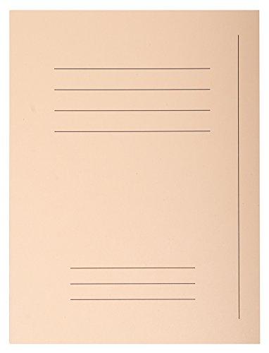 Exacompta 435002E Packung 50 Forever Aktendeckel (mit Beschriftungsfeld aus Recycling Karton 250 g, DIN A4, 21 x 29,7 cm) sand