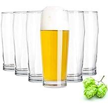 Vasos de cerveza Tivoli Nurnberg - 450 ml - Juego de 6 - Vasos de alta