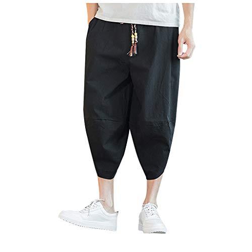 Velours-cargo Pocket-hosen (Zolimx Herren-Leinenhose mit großen Taschen, Männer, die gedruckte Overall-beiläufige Taschensport-Arbeits-beiläufige Hosen-Hosen spleißen)