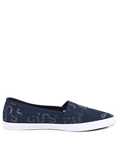 Lacoste Women's Marice 117 2 Canvas Slip On Espadrille Navy Blue
