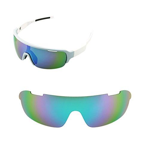 Walleva Ersatzgläser für POC Half Blade Sonnenbrille - Mehrfache Optionen (Smaragd - polarisiert)