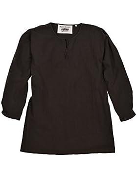 Mittelalter Tunika Gunther, langarm, braun für Herren - Wikinger - LARP - Hemd - Mittelalterhemd Size XXL