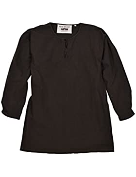 Mittelalter Tunika Gunther, langarm, braun für Herren - Wikinger - LARP - Hemd - Mittelalterhemd
