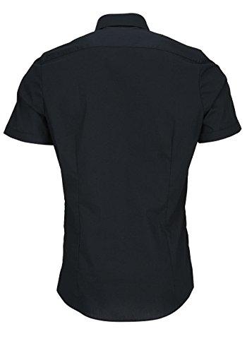 Olymp Level Five Body Fit Camicia a maniche corte, da uomo Nero