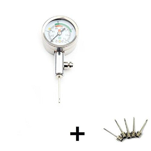 ZXJOY 5-Manometer, mit Druck, für Fußball, Rugby-Ball Basketball, a