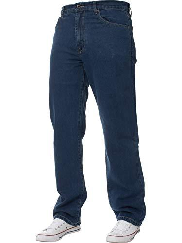 Blue Circle Herren GERADES Bein Einfach schwer Works Jeans Denim Hose alle Hüfte große Größen - Stone Wash, 44W x 34L