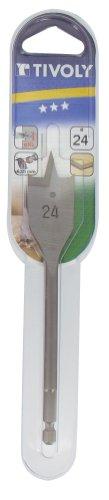 TIVOLY 10802522300 - Broca madera plana TECHNIC de 23 mm largo 158 mm con mango hexagonal