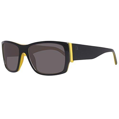 United Colors of Benetton Herren BE59404 Sonnenbrille, Schwarz (Black/Yellow), 54