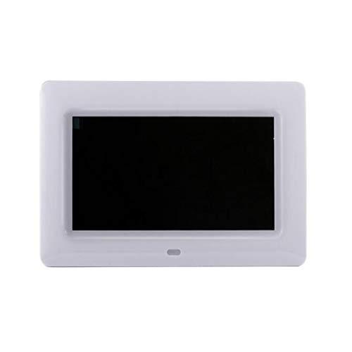 NINI 7 Zoll Digitaler Fotorahmen High-Definition LED-Video-Player Multi-Funktion Werbemaschine Geschenk Elektronisches Album,White