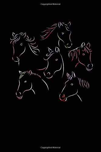 Horse Heads: College Ruled Notebook | Composition Book | Diary | Multicolor por Sally James