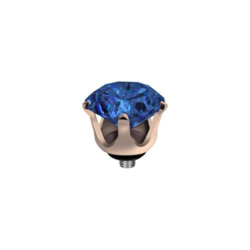 MelanO Twisted Ringaufsatz Krone Roségold Blue
