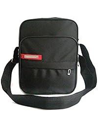 TOOGOO (R) Negro Bolso de hombro de hombres bolsa de mensajero