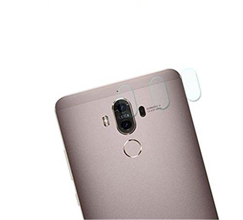 Interesting® 3 Stück zurück Kameraobjektiv gehärtetes Glas Schutz Deckel Schutzfolie für Huawei Mate 9