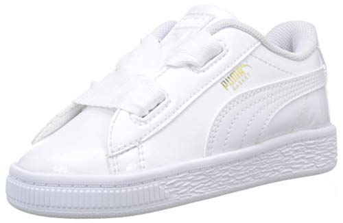 b68d1825dde Puma Baby Girls  Basket Heart Patent Inf Low-Top Sneakers White