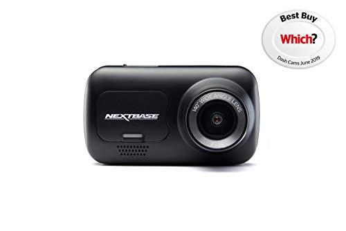 Nextbase 122 - Dash-Cam, Auto-Dash-Kamera - Volle 720p / 30fps HD-DVR-Kamera - 120 ° weiter Betrachtungswinkel - GPS - SOS-Notfall - Schwarz