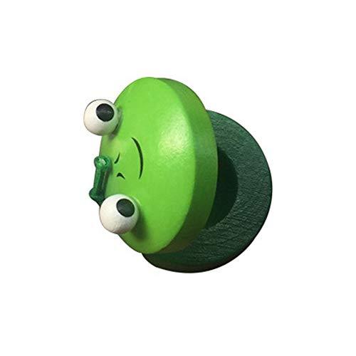 (Baby Early Learning Holztier Kastagnetten Kinder -Spielzeuge EIN grünes Kleid Lustiges Spielzeug, um Ihre Leidenschaft für Feiern zu Zeigen.)