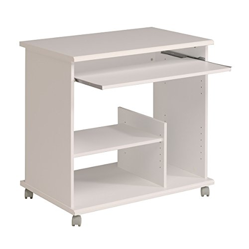 Parisot Compact Computer Desk with Particle Boards Plus Paper Foil, 78.6 x 77.3 x 50.1 cm, White