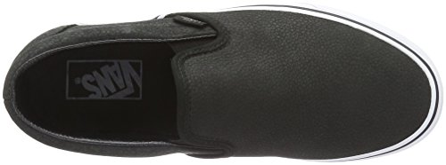 Vans Classic Slip-On- Sneaker Unisex Adulto Nero (Premium Leather)