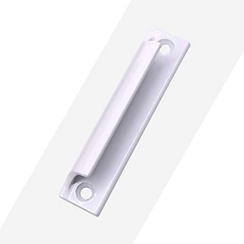 LZK Bildschirm Fenster Griff Aluminium Tür Kleinen Griff Kunststoff Stahl Wand montiert Fenster Griff Schrank Tür Schublade Balkon Glastür Griff,Weiß,1 (Platte Türgriff)