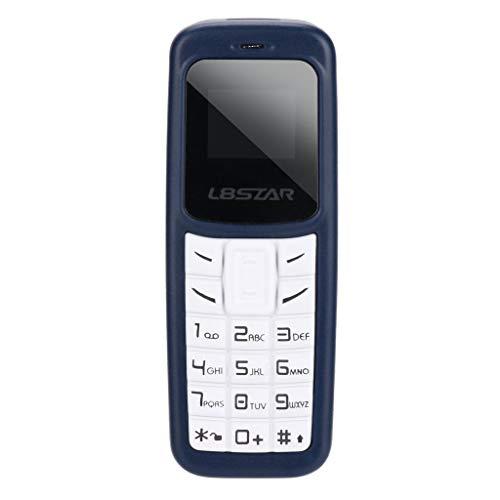 HSKB L8STAR BM30 Mini Bluetooth Handy, Voice Changer/ohne SIM-Lock, Dual-SIM, MP3 / MP4 Beat The Small Kids Toy/Alter Mann Sehr klein und Kompakt mit Ohrbügel (Blau) (Verizon Nicht Vertrag Smartphones)