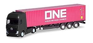 Herpa 066792 Mercedes Benz Actros Gigaspace Container - Sillín para Coche, camión en Miniatura para coleccionar y como Regalo, Multicolor