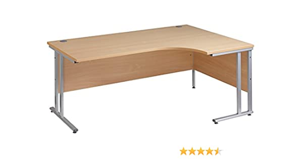 Ergonomic 1800mm Right Hand Oak Corner Office Desk Computer Table