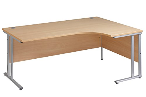 Ergonomic 1800mm Right Hand Oak Corner Office Desk Computer Table Discount