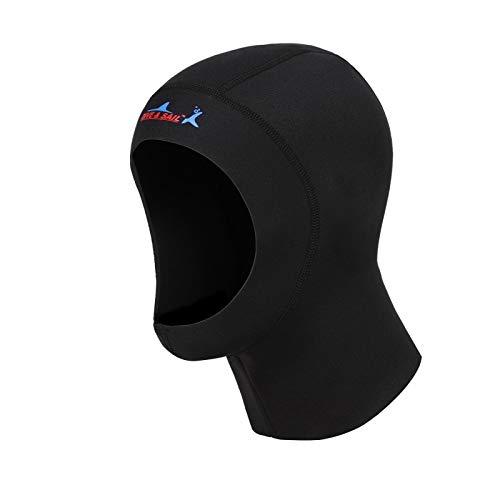 HATCHMATIC 1 mm Neopren schützen Haar Schwimmen Hut mit Schulter neuen Tauchen Cap Schnorcheln Hat Hood Halsteil Schwimmen Warm Wetsuit: S