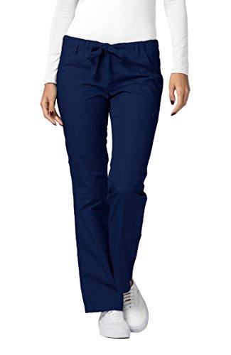 Scrub Krankenschwester Womens Kostüm - Adar Universal Womens Low-Rise Multipocket Drawstring Straight Leg Pants - 510 - Navy - M