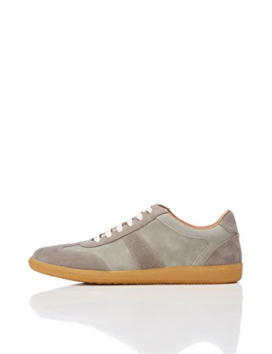FIND Herren Retro Sneaker in Wildleder-Optik, Grau (Grey), 44 EU (Sneaker Fashion)
