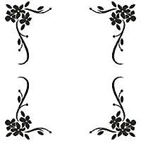 Möbeltattoo - Eckenornament 4 teilig