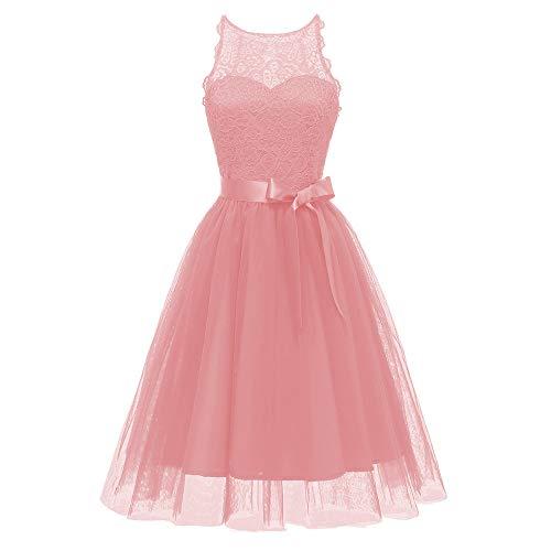 Kleider Sommer Damen Only,Kleid Damen Sommer Knielang Vintage,Brautkleid Kurz Trägerlos,for Women...