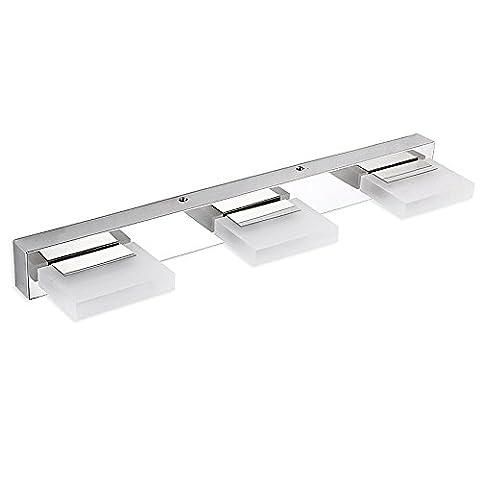 Dailyart® 9w Winkel einstellbar Spiegelleuchten Led 360 ° Drehbar Kristall & Edelstahl. Kühles weißes. LED wandleuchte Licht im Bad Badlampe- Free verschenken ein Metalltropfen String