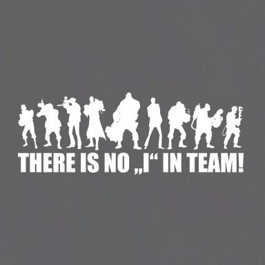 TEXLAB - Team Fortress: There is no I in Team - Langarm T-Shirt Marine