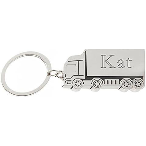 Llavero de metal de camión con nombre grabado: Kat (nombre de pila/apellido/apodo)