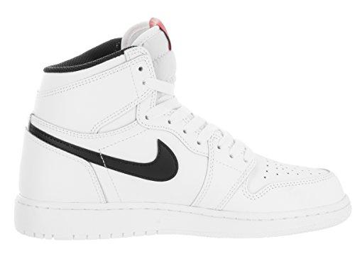 Nike Jungen Air Jordan 1 Retro High Og Bg Basketballschuhe Blanco (Blanco (white/black-white-university red))