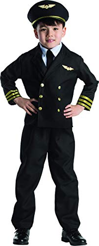 Dress Up America Wenig Junge Pilotenjacke Kostüm Set (Kids Airline Pilot Kostüm)